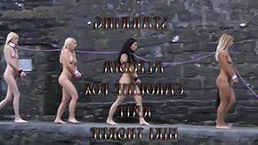 Spanking, BDSM, Bend Over, Blonde, Blowjob, Bondage