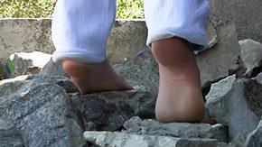 Barefoot unexperienced recalcitrant feet fetish footjob reality