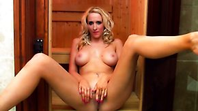 Sauna, Ass, Babe, Big Ass, Big Tits, Blonde