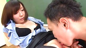 Asian Mature, Asian, Asian Mature, Boobs, Brunette, Desk