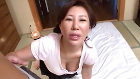 Mature Asian, Asian, Asian Granny, Asian Mature, Blowjob, Brunette