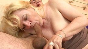 Cougar, Blonde, Blowjob, Cougar, Mature, Moaning