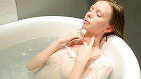 Wet T-shirt, Anorexic, Babe, Bath, Bathing, Bathroom