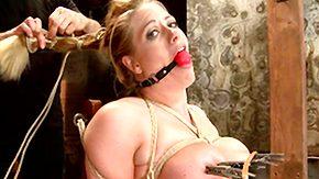 Nipple Clamp, Ball Kicking, Ballbusting, BDSM, Big Tits, Blonde