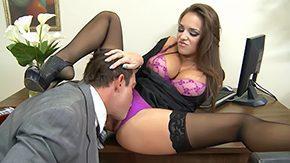 Office Stockings, Big Tits, Black, Black Big Tits, Boobs, Boots