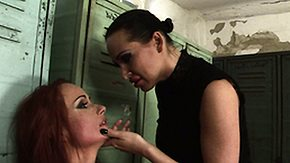 HD Ball Busting Sex Tube Big-busted dust-ball embraces say no to lackey after shes performed being punished
