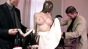 HD Latex Lucy Sex Tube Lucy goes immigrant latex whore to latex maid in conjunction with kisses his kiss someone's arse