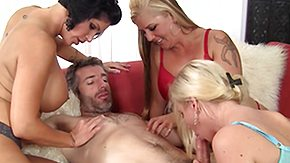 French Swingers, 4some, Big Cock, Blonde, Blowjob, Brunette
