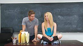 Coach, 18 19 Teens, Barely Legal, Blonde, Blowjob, Classroom