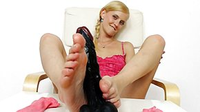 Socks, Babe, Blonde, Czech, Dildo, Feet