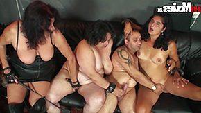 Bizarre, 4some, BBW, Blowjob, Brunette, Chubby