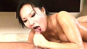 Asa Akira, Asian, Bed, Blowjob, Brunette, Massage