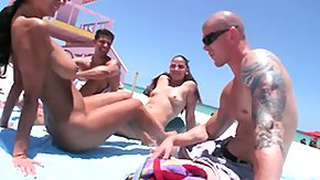 Beach Sex, 3some, Amateur, Anal, Anal Creampie, Ass