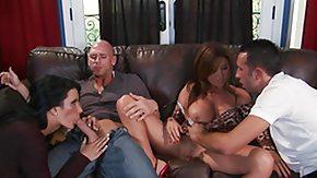Boy Mature, 4some, Big Pussy, Big Tits, Blowjob, Boobs