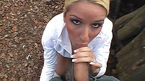 Forest, Big Cock, Blonde, Blowjob, Cash, Fingering