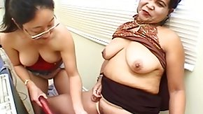 Asian lesbians do wild masturbation together