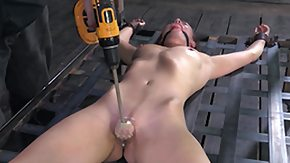 Chained, BDSM, Beauty, Brunette, Chained, Drilled