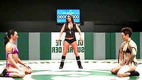 Wrestling, Bikini, Bitch, Brunette, Fight, Hooker