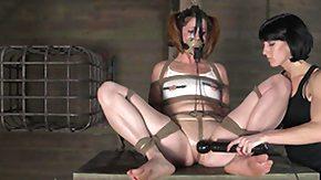 Punishment, BDSM, Bound, Brunette, Dominatrix, Femdom