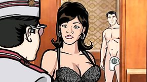 Cuckold HD porn tube Lana Sucks Archer's The man Hard Penis