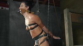 Tied Up, BDSM, Bound, Brunette, Choking, Gagging