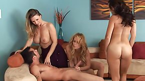 Femdom, 4some, Big Tits, Blonde, Blowjob, Boobs