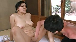 Mature, Asian, Asian Granny, Asian Mature, Boobs, Brunette