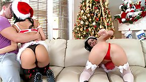 Christmas, 4some, Ass, Ass Licking, Big Ass, Big Pussy