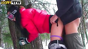 Ski, Babe, Blowjob, Brunette, Clothed, Doggystyle