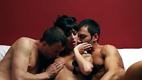 Cinema, 3some, Blindfolded, Boobs, Brunette, Cinema