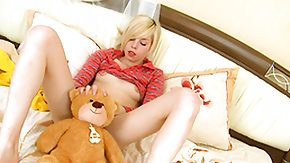 Russian Teen, Babe, Bed, Blonde, Boobs, Fingering