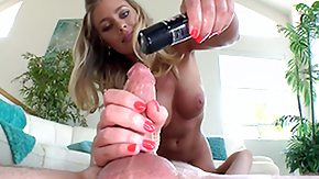 Nicole Aniston, Blonde, Boobs, Curly, Handjob, Long Hair