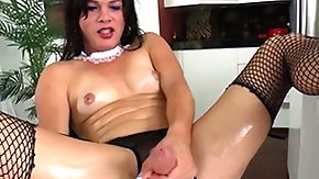 Tgirl, Masturbation, Shemale, Solo, Stockings, Tgirl