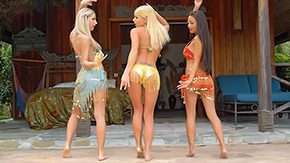 Indian, Aunt, Babe, Blonde, Clothed, Dance