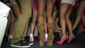 Upskirt, American, Ass, Babe, Brunette, Club