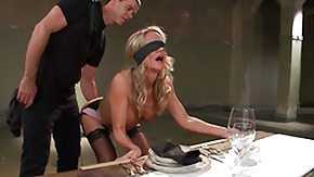 Blindfolded, Blindfolded, Blonde, Mature, MILF, Stockings