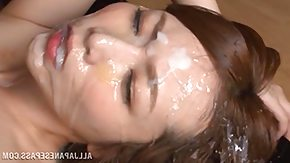 Japanese Bukkake, Asian, Bitch, Brunette, Bukkake, Cumshot