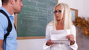 Office Stockings, Aunt, Bend Over, Blonde, Classroom, Coed