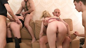 Lesbian Bondage, BDSM, Gangbang
