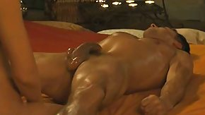 Prostate, Big Ass, Big Cock, Brunette, Girl Fucks Guy, Handjob