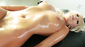 Nylon, Adorable, Babe, Blonde, Leggings, Massage