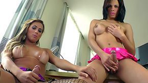 Free Bruna Castro HD porn Bruna Castro Julianna Souza 2 burning seductive seductive trannies with nicely shaped round bags They stroke their meaty dicks following a time give blowjob to each other overweight