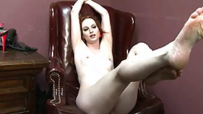 Ball Kicking HD porn tube Rude redhead makes her slave admiration her feet at last a ball-busting treatment