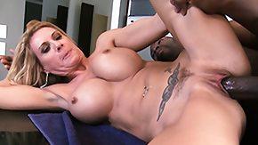 Cock Milking High Definition sex Movies Blonde bimbo with fake milk sacks swallows a big ebon cock's load