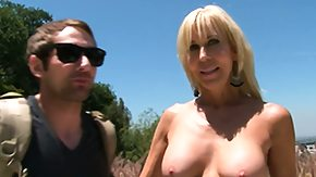 Blonde Cougar HD porn tube Blonde cougar finds her some younger meat to eat also brings it home
