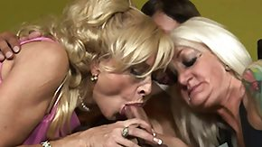 Mother And Daughter, 3some, Amateur, Blonde, Blowjob, Daughter