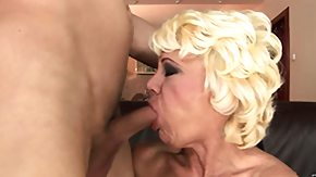 Grandma, Bitch, Blonde, Blowjob, Experienced, Grandma