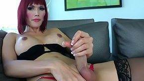 Eva Lin High Definition sex Movies Tranny sports red wig short underwear there are going to be seductive sparks They happen to be made by jacking off of her big Eva Lin gives masturbation