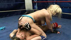 Wrestling, Athletic, Babe, Bimbo, Blonde, Brunette