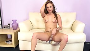 Free Tegan Summers HD porn Tegan Summers squats down whilst caning her total lil' fairy